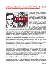 Leo Frank - Parade The Musical