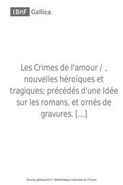 Sade les crimes de l amour pdf