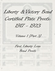 Liberty & Victory Bonds Certified Plate Proofs: 1917-1923 (vol. 1, part 3)