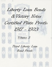 Liberty & Victory Bonds Certified Plate Proofs: 1917-1923 (vol. 3)