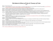Revisions to Library of Coins & Treasury of Coins