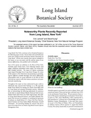 Vol v.24:no.3 2014: Long Island Botanical Society newsletter