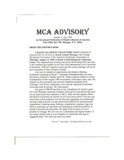 The MCA Advisory, July 1999