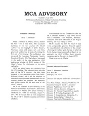 The MCA Advisory, June 2001