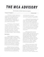 The MCA Advisory, October 2003