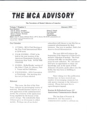 The MCA Advisory, January 2004 (pg. 2)