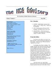 The MCA Advisory, May 2004
