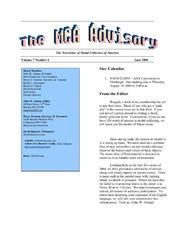 The MCA Advisory, June 2004