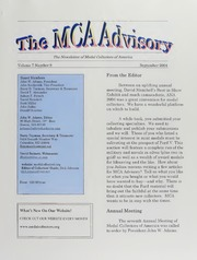 The MCA Advisory, September 2004