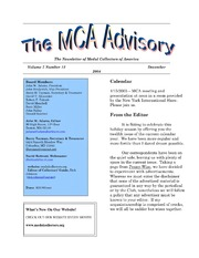 The MCA Advisory, December 2004
