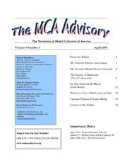 The MCA Advisory, April 2005