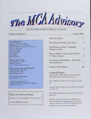 The MCA Advisory, August 2005