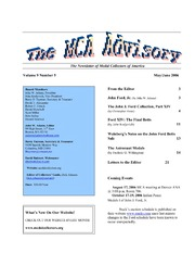 The MCA Advisory, May-June 2006