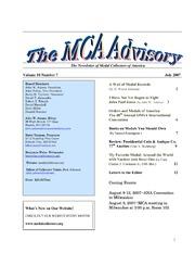 The MCA Advisory, July 2007