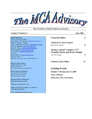 The MCA Advisory, June 2008