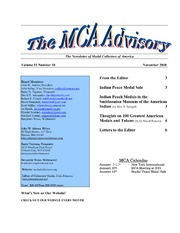 The MCA Advisory, November 2008