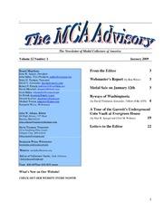The MCA Advisory, January 2009