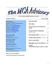 The MCA Advisory, February 2009