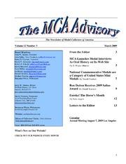 The MCA Advisory, March 2009