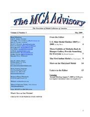 The MCA Advisory, May 2009