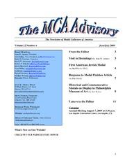 The MCA Advisory, June-July 2009