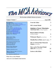 The MCA Advisory, August 2009