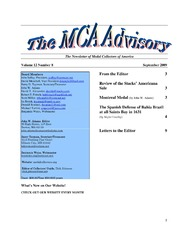 The MCA Advisory, September 2009 (pg. 3)