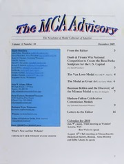 The MCA Advisory, December 2009