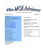 The MCA Advisory, January 2011