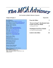 The MCA Advisory, March 2011