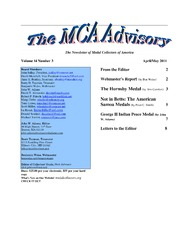 The MCA Advisory, April-May 2011