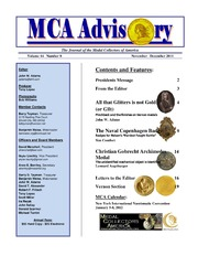 The MCA Advisory, November-December 2011