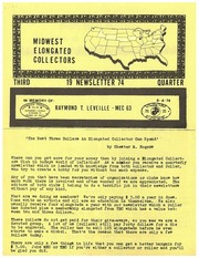 Midwest Elongated Collectors Newsletter