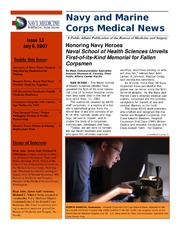 Navy and marine corps medical news issue 11 may 25 2007 for Powers bureau issue 13