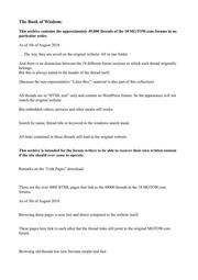 MGTOW com Forum Thread Archive - 2018-08-05 : MGTOW : Free