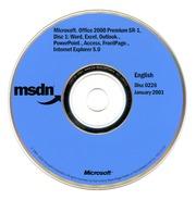 MSDN Microsoft Office 2000 Premium SR 1 Disc 1 (Disc 0226