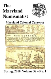 The Maryland Numismatist (2010, no. 1)