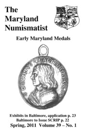 The Maryland Numismatist (2011, no. 1)