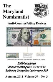 The Maryland Numismatist (2011, no. 3)