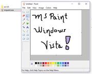 MS Paint Windows Vista Version : Microsoft : Free Download