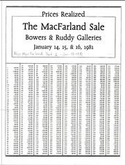 MacFarland Sale, Part 1