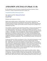 Mark 1_1-8 Cebuano Sermon : Wes Bredenhof : Free Download
