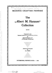 Masonic Chapter Pennies, The Albert M. Hanauer Collection