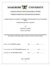 Mathungu Anthony Internship Report
