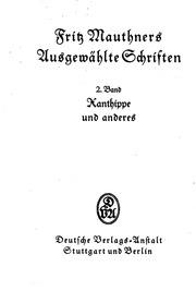 Mauthner Schriften 1-6 Nachworte