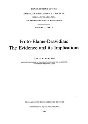 Proto-Elamo-Dravidian: The Evidence and Its Implications  issue 3