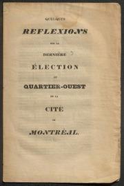 Quelques réflexions sur la dernière élection du # quartier-ouest de la cité de Montréal