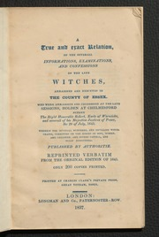 Tryal of witches 1716 book