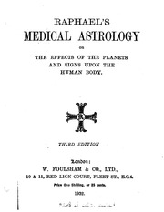 Medical Astrology : Raphael : Free Download, Borrow, and