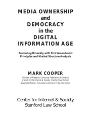 democracy and media ownership essay For any american who prizes democracy, this book is a clear wake-up call to look   collection of essays by more than a dozen of the nation's top media scholars,.